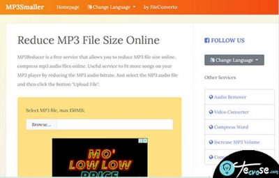 Mp3smaller - Reduce MP3 File Size Online