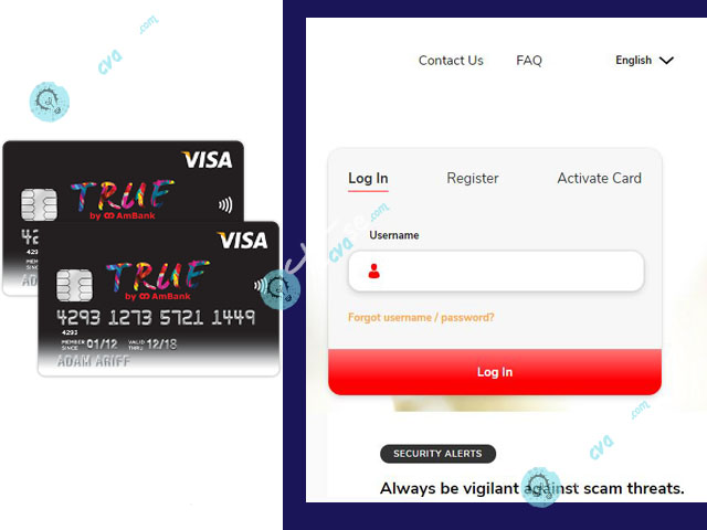 AmBank True Visa Credit Card Login - How to Login to AmBank True Visa Credit Card