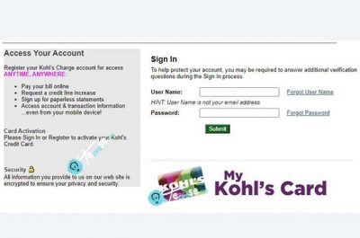 Kohl's Credit Card Login - Manage your Kohl's Card Account