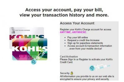 Kohl's Credit Card Payment - Pay my Kohl's Card Bills