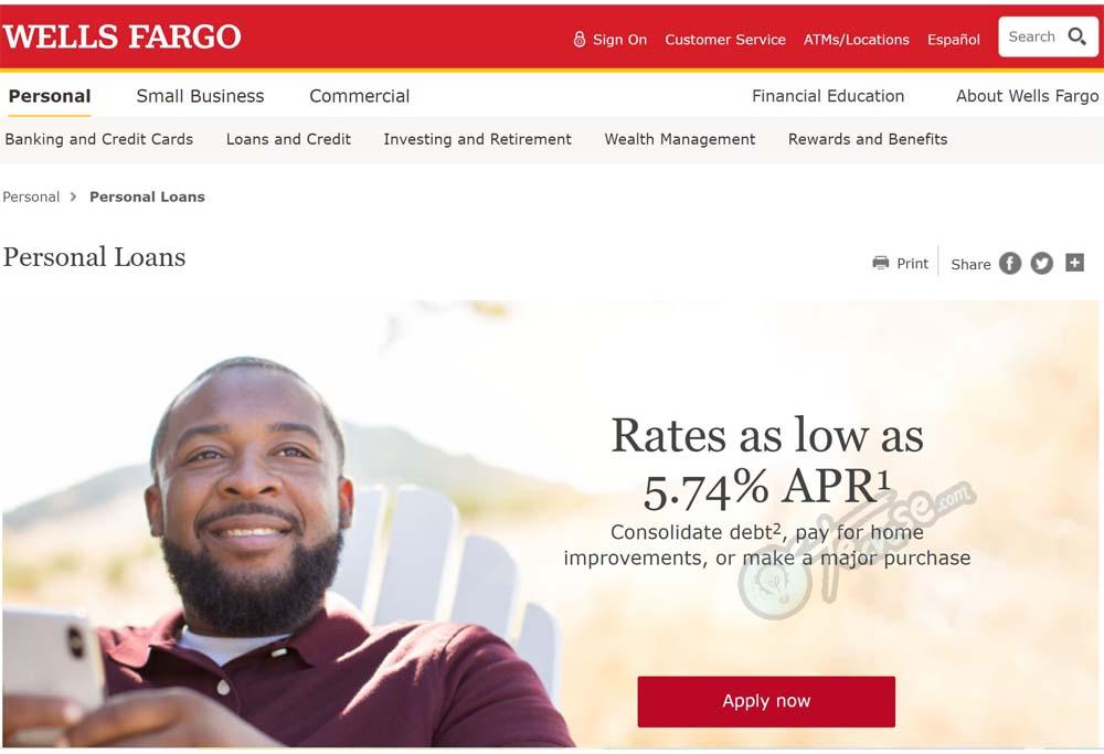 Wells Fargo Loans - Apply For Wells Fargo Personal Loans | Wells Fargo Loans Rates