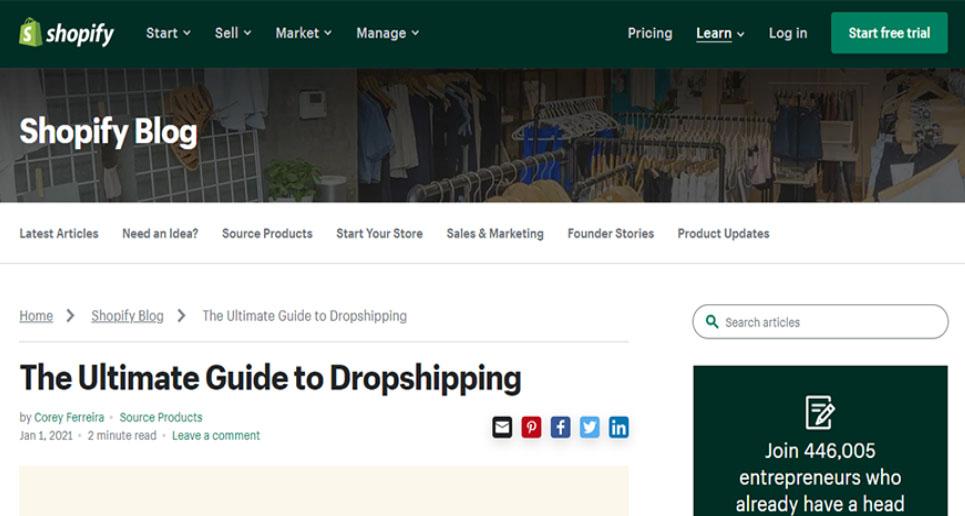 Shopify Dropshipping - Start Dropshipping on Shopify