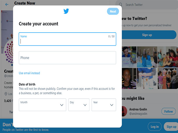 Create Twitter Account - Twitter Account Sign up