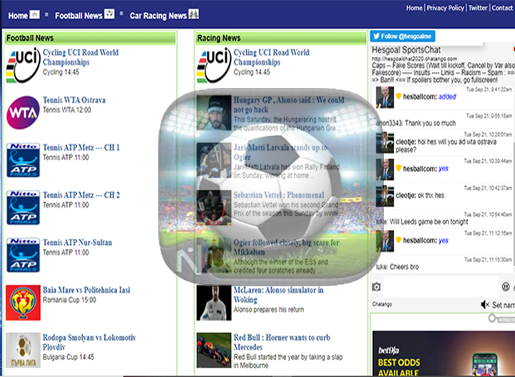 HesGoal - Watch Live Football, Tennis, UFC, And Other Sports on HesGoal.com