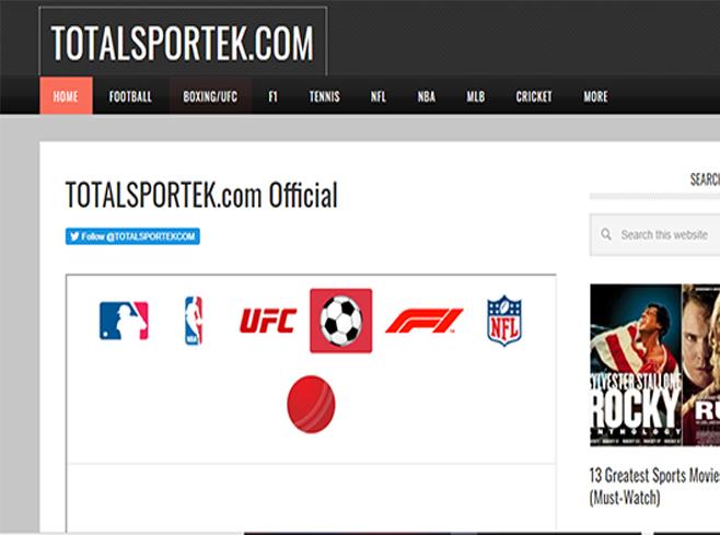 TOTALSPORTEK - Watch Live Football, Boxing, NBA,  Tennis, and More | Totalsportek Live